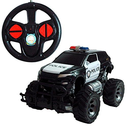 RAYLINE Jeep Police 6142K - Coche teledirigido con mando a distancia