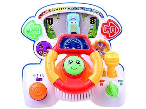 BSD Interaktiv Spielzeug Fahrsimulator Lenkrad für Kinder Kleinkinder