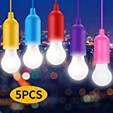 Lampade led campeggio,Light Portatili Lampade Tenda LED, Lampadina,Luce Decorativa,LED Lamp per Pesca,Festa, da Esterno o da Interno,Lampadina Led Portatile Colorata Senza Corrente-5 Pezzi