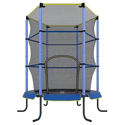 Ultrasport Kindertrampolin Jumper - Ø 140 cm mit Sicherheitsnetz