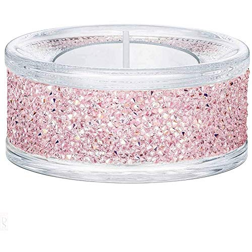 Swarovski Shimmer Tea Light Holder, Pink | 5474276
