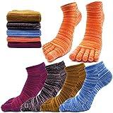 MOAMUN 5 Paar Frühling Fünf Finger Zehensocken Für Männer Frauen Baumwolle, Damen Casual Low Cut Socken Weich & Atmungsaktiv (Frau)