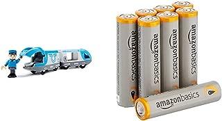Schylling Brio Travel Battery Train with AmazonBasics AAA Batteries Bundle