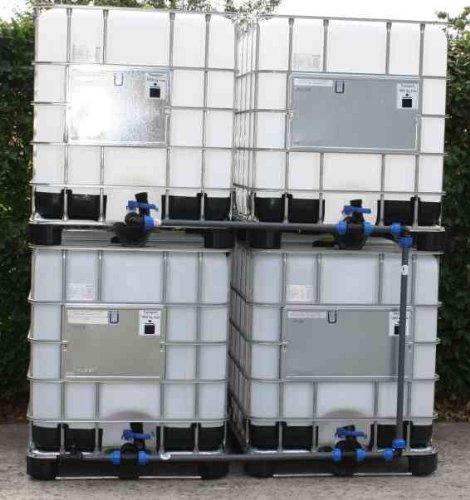 Tankverbindung DN50 BLOCK4 - für 4 IBC 1000 im Block ( Tanks sind nicht im Angebot enthalten )