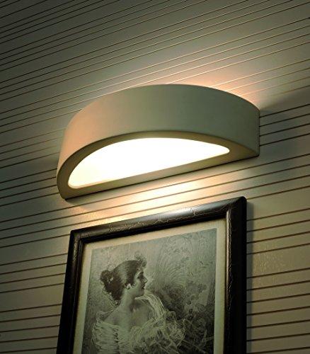 Bemalbare Gipslampe Weiß E27 Keramik Leuchte Wandlampe Schlafzimmer Flur Hotel