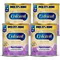 Enfamil Gentlease Sensitive Baby Formula Gentle Milk Powder, Omega 3 DHA, Probiotics, Iron & Immune & Brain Support, 27.7 oz, Pack of 4 (Package May Vary)
