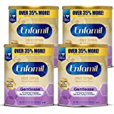 Enfamil Gentlease Baby Formula, Reduces Fussiness, Crying, Gas and Spit-up in 24 hours, DHA & Choline to support Brain development, Value Powder Can, 27.7 Oz (Pack of 4)