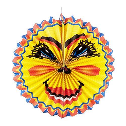 Idena 8312518 - Laterne Sonne, Durchmesser 26 cm, Papier, Lampion, St. Martin, Lichterfest, Laternenumzug, Advent, Weihnachten, Dekoration
