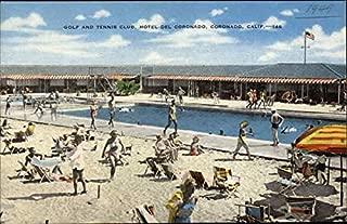 Golf and Tennis Club, Hotel Del Coronado Coronado, California Original Vintage Postcard