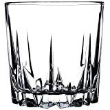KADAX Trinkgläser aus hochwertigem Glas, 6er Set, Wassergläser, dickwandige Saftgläser, geriffelte Gläser für Wasser, Drink, Saft, Party, Cocktailgläser, Getränkegläser (niedrig, 300ml) - 3