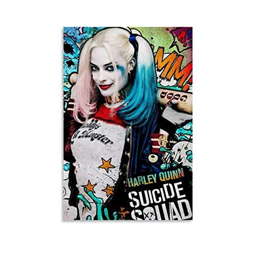 DRAGON VINES Póster de Harley Quinn Suicide Squad Super Criminal College, impresión artística para decoración del hogar, 30 x 45 cm