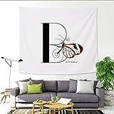 mmzki 26 Englisch Alphabet Tapisserie Cartoon Tier Wandbehang Malerei Decke B 150x100