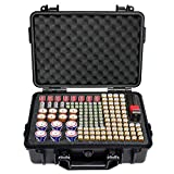 SHBC Battery Organizer Storage Box with Battery Tester Case Bag Holder fits for 157
