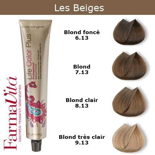 Coloration cheveux FarmaVita - Tons Beiges Blond beige 7.13