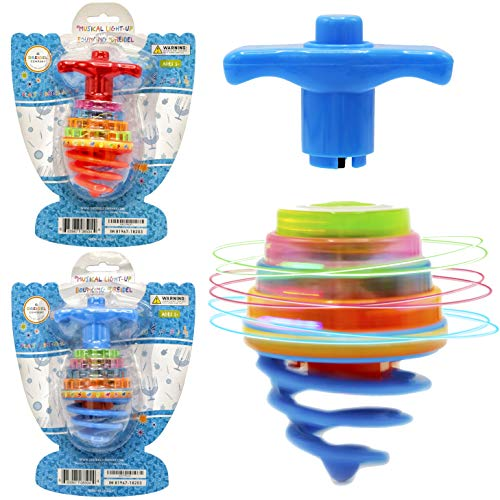 Hanukkah Dreidel Musical Bouncing Light-Up Dreidel Hanukkah Toys - Assorted Colors (2-Pack)