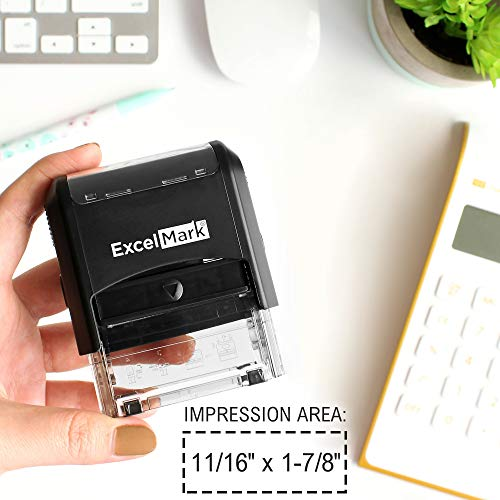 Self Inking Rubber Stamp with up to 4 Lines of Custom Text (42A1848) Photo #5