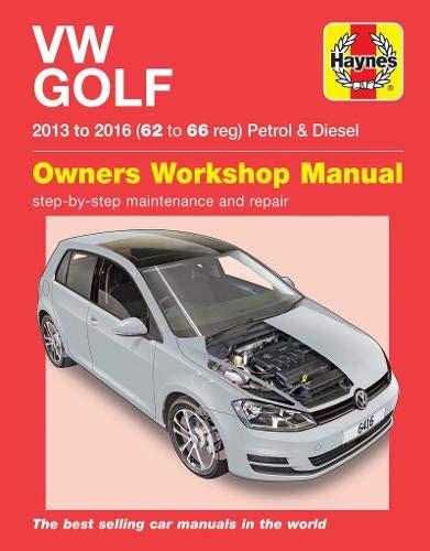 VW Golf petrol & diesel ('13-'16) 62 to 66