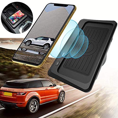 BUSUANZI Cargador inalámbrico para Coche Apto para Land Rover Discovery Sport 2015-2020 Salida de 10W QC 3.0 Carga rápida USB Compatible con iPhone Samsung