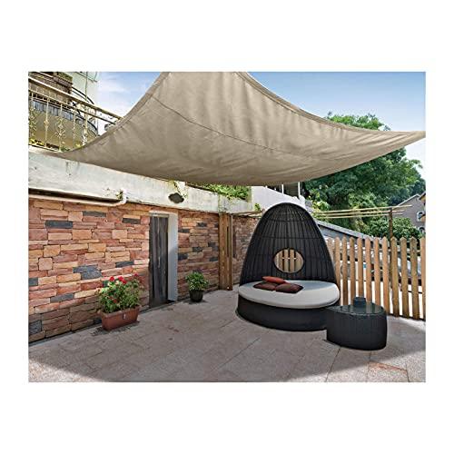 LXLX Toldo de tela Oxford Quadrilateral, protección solar a prueba de rayos UV, impermeable, equilátero, toldo para jardín, playa, camping, parasoles de protección solar, 2 × 4 m