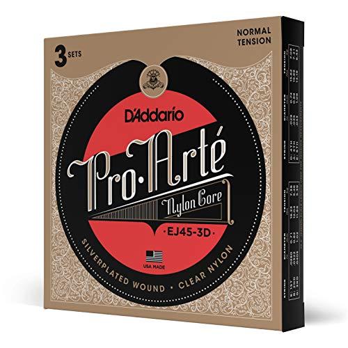 D'Addario EJ45-3D Pro-Arte Normale Klassieke Gitaarsnaren, voor Akoestische Gitaar, 3-Stuks