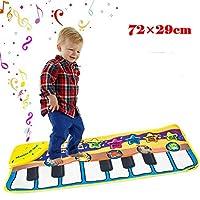 マルチ動物と音楽モード、調節可能な巻、早期教育幼稚園のおもちゃ、男の子&女の子のための最高のキーボードのダンスマットギフトとミュージカルピアノマット