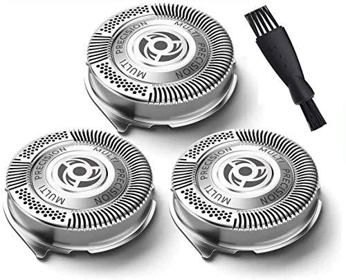 Poweka Têtes de Rechange SH50 pour Têtes de Rasage pour Phili-ps Série 5000 Rasoir SH50 / 51/52 HQ(3pcs)