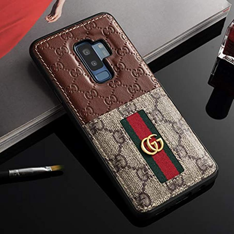 Phone Case for Galaxy S9 Plus- US Fast Deliver Guarantee FBA- Elegant Luxury PU Leather Designer Case with Card Holder Slot Cover for Galaxy S9 Plus