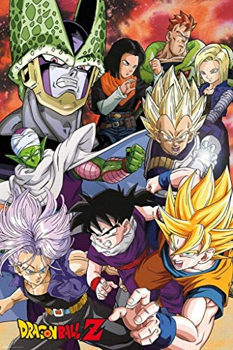 Lobcede.be Póster Dragon Ball Z, Cell Saga, Madera, Varios, 65x3.5x3.5 cm