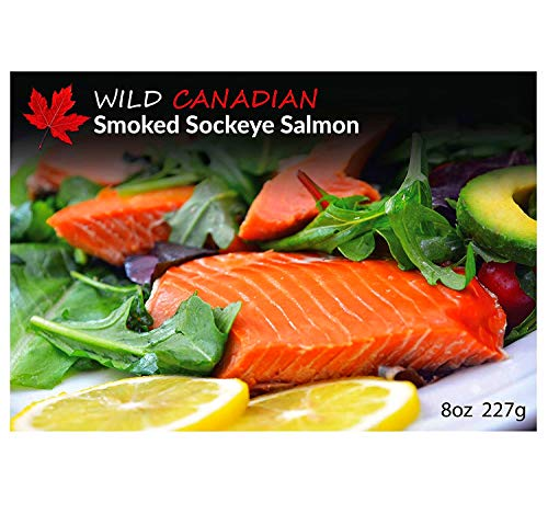 Premium Quality Wild Canadian Pacific Smoked Sockeye Salmon Fillet Gift
