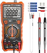 Digital Multimeter, LOMVUM TRMS 6000 Counts Electrical Tester AC/DC Amp Ohm Voltage Tester Meter with Temperature Frequency Resistance Continuity Capacitance Diode and Transistor Test