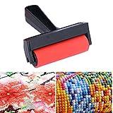 Gamloious Diamant-Malerei Scroll Abflachen Werkzeug DIY 5D Diamant-Painting Roller mit Widening Griff Ideal Pressen Zubehör Werkzeuge rot