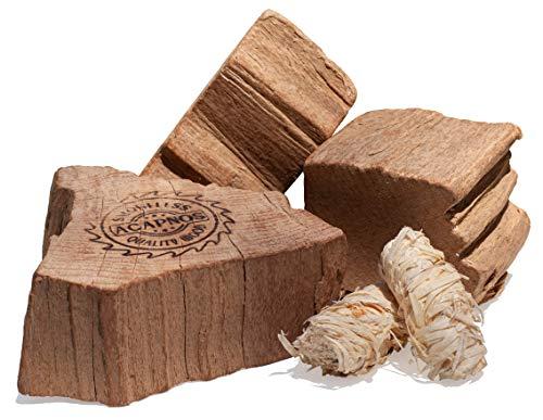 Acapnos Premium Brennholz Buche 5cm Scheiben getrommelt inkl. Grillanzünder für Feuerschale, offenes Feuer, Grill und Kaminofen