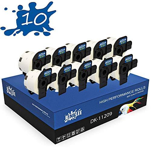 RINKLEE DK-11209 Etiketten kompatibel für Brother P-Touch QL-500 QL-550 QL-560 QL-570 QL-580 QL-700 QL-710W QL-720NW QL-800 QL-810W QL-820NWB QL-1060N QL-1100 QL-1110NWB   29 x 62 mm   10 Rollen