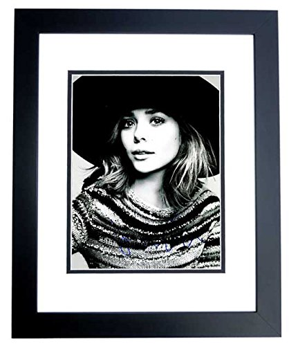 Elizabeth Olsen Signed - Autographed Sexy Actress 11x14 inch Photo BLACK CUSTOM FRAME