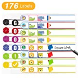 Daycare Labels for Baby Bottle, Cups, School Supplies Waterproof Self-Laminating Write-On Kids Name...