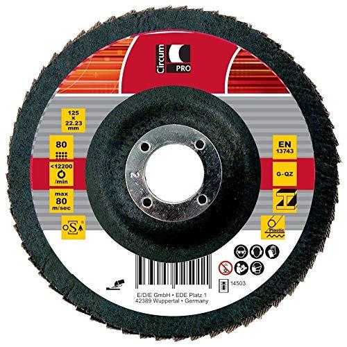 Circumpro 4333097024960taglia 40inclinato grana abrasiva piastra, nero, 115mm