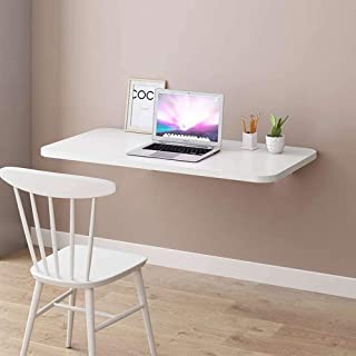 Folding Laptop Desk, Foldable Wall Mounted Computer Table, Space Saving Hanging Table for Working, Bedroom, Bathroom (white)