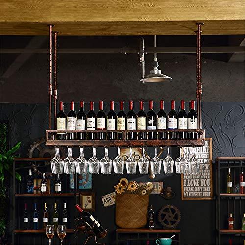 Weinregal Ständer European Wine Glass Rack Upside-Down-Becher Rack Weinflaschenregal Hanging Cup Holder Kreative Weinregal Klassische Art Weinregale für Flaschen ( Farbe : Bronze , Größe : 200x35cm )