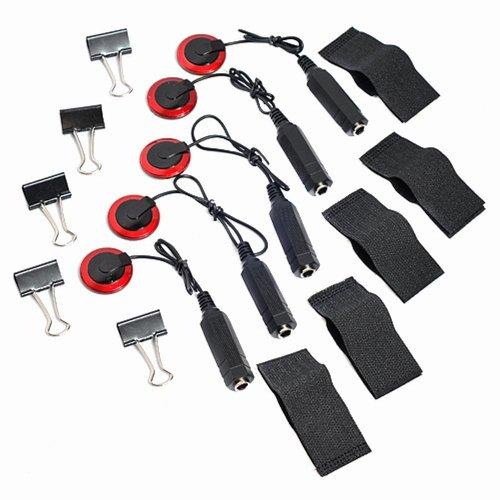 Vzer - Micrófono de contacto, (5 unidades), captador piezoeléctrico para violín, guitarra, viola, violonchelo y banjo