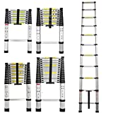 2.6M Heavy Duty Multi-Purpose Aluminium Telescopic Ladder Extendable Steps,Max Load 150kg/330lb,EN131