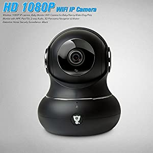 Kstyhome Wireless 1080P IP Camera, Baby Monitor WiFi Camera for Baby/Nanny/Elder/Dog/Pets Monitor with APP, Pan/Tilt, 2-Way Audio, 3D Panorama Navigation & Motion Detection Home Security Surveillance