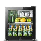 Compresor del refrigerador de vino Nevera W / Lock  con Congelador independiente con iluminación LED, -6 ° C a 12 ° C, champán o vino espumoso  5 Gearstemperature control nevera, congelador, 90L LIULI