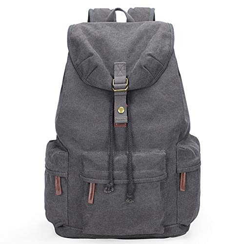 YXZN Camera Backpack Large Capacity Multifunctional Photography Bag Leisure Retro Outdoor Travel Anti-theft Canvas Bag