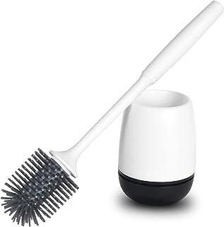 Vicloon Cepillo para Inodoros, Cepillo y Soporte para Inodoro de Silicona con Secado Rápido Función, Juego de Cepillo de I...