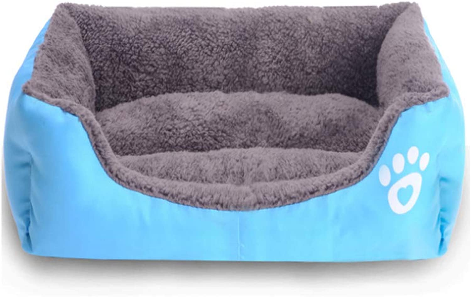 Dog Kennel Pet House Fall Winter Warm Pet Waterloo Teddy golden Retriever Dogs Bed Cushion Pussy Litter Pet Supplies Teddy Sofa Pet Bed Pet Waterloo (color   bluee, Size   M)