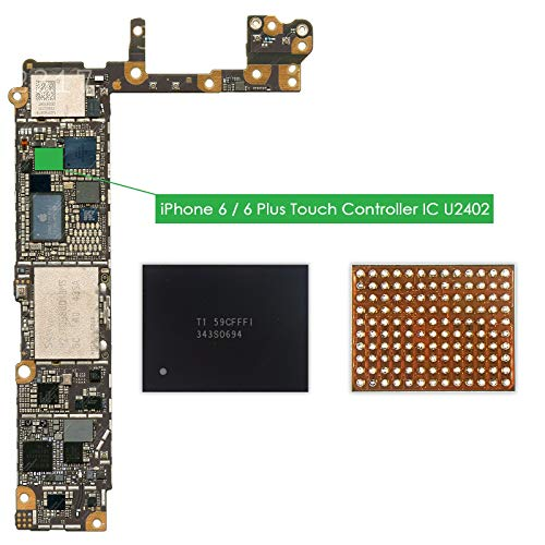 TechZone U2402 Screen Controller Black Meson Touch IC 343S0694 Chip for Apple iPhone 6 & 6 Plus 6+