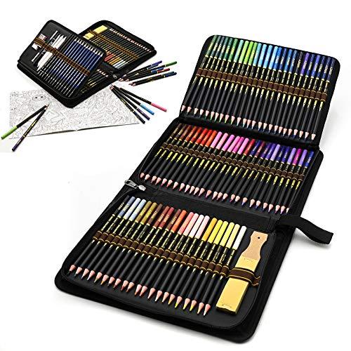 Estuche de lápices de colores para dibujo profesional, Set de 96 piezas...