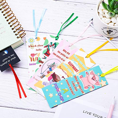 60 Pieces Silly Jokes Bookmarks Cartoon Hilarious Page Markers Funny Reading Bookmarks for Teachers Students Readers Classroom Rewards Supplies,12 Styles Photo #5