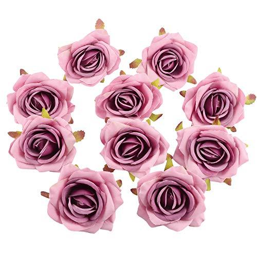 VINFUTUR 10 Stücke Künstliche Blumen Rosen Kunstblumen Rosenköpfe Blumenköpfe Seidenblumen für Basteln Hochzeit Party Home Deko