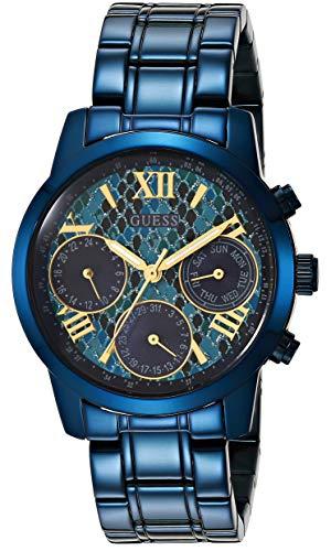 Guess Reloj Análogo clásico para Mujer de Cuarzo con Correa en Acero Inoxidable W0448L10